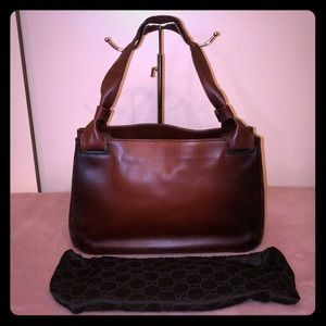 Gucci Brown Leather Shoulderbag w/ Dustbag